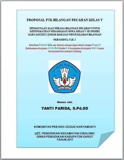 Contoh Proposal Ptk Sd Kelas Iv Pdf Doc