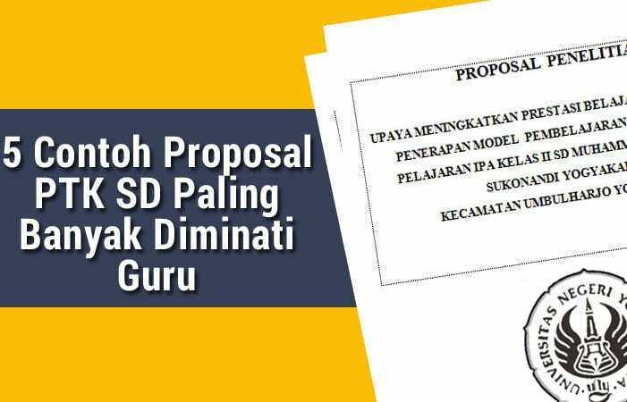 Contoh Proposal Ptk Sd Lengkap Kelas 1 6 Pdf Doc