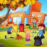 ilustrasi lingkungan sekolah