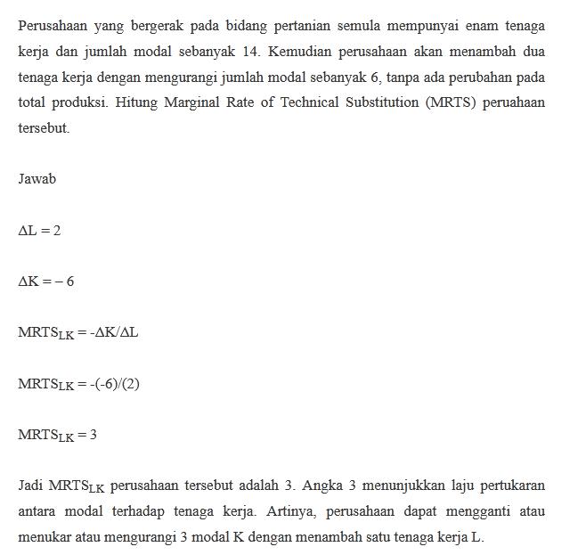Contoh Perhitungan MRTS