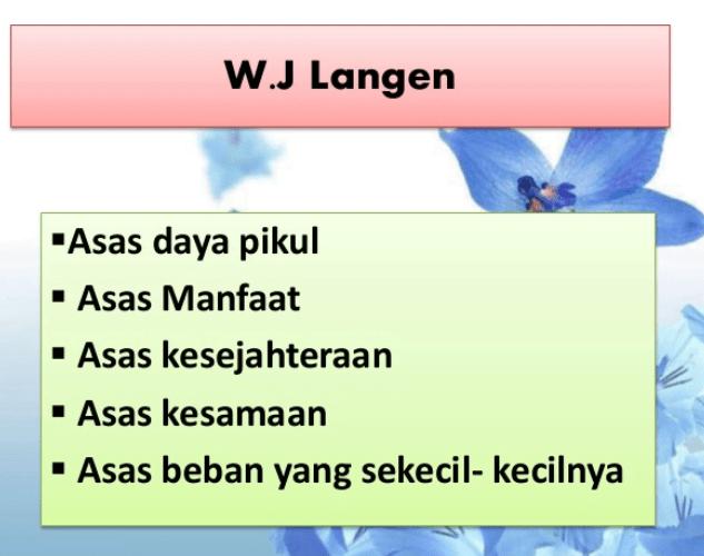 Munurut W.J Langen