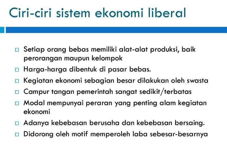 ciri ciri ekonomi liberal