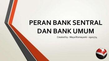 Peranan Bank Dalam Perekonomian