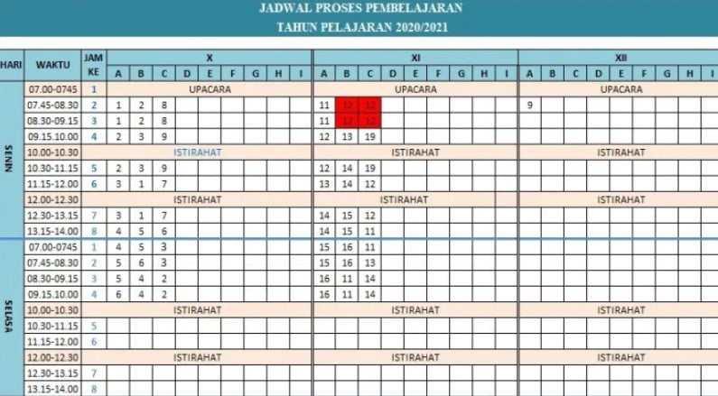 Aplikasi Jadwal Pelajaran untuk SMP