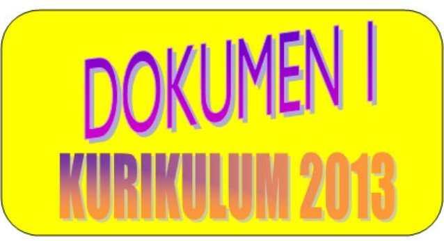 Dokumen 1 Kurikulum 2013 SD, MI, SMP, SMA, SMK