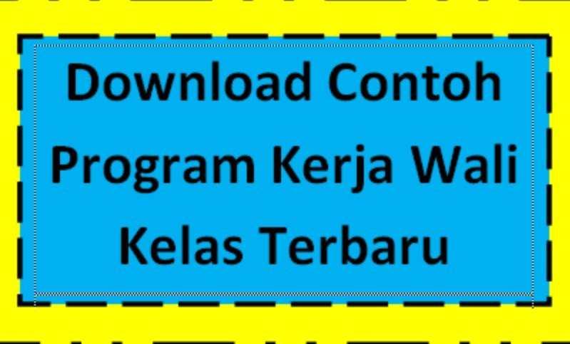 Download Program Kerja Wali Kelas