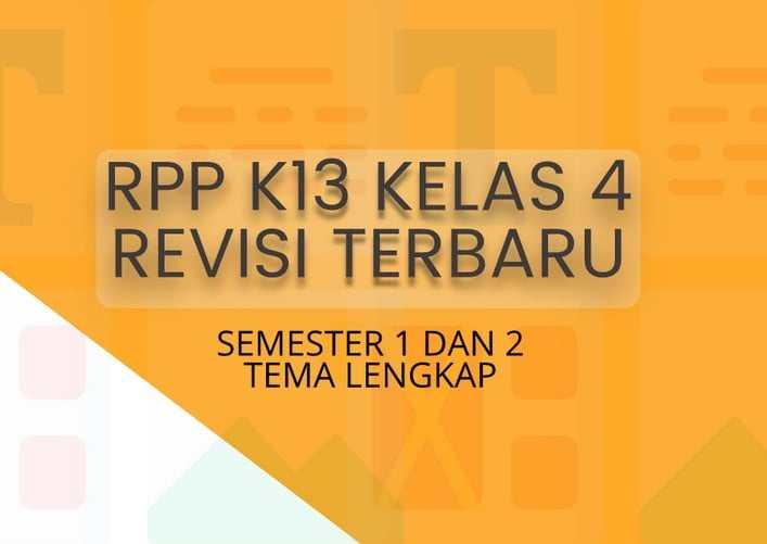 Download RPP Kelas 4 Kurikulum 2013