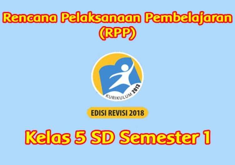 RPP Matematika Kelas 5 Semester 1 K13 Revisi 2018