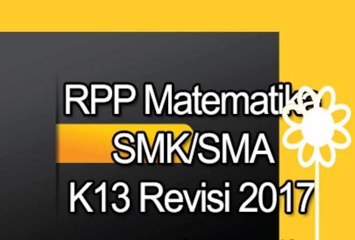 RPP Matematika SMA Kurikulum 2013 Revisi 2017