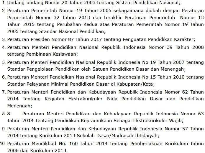 landasan hukum k13