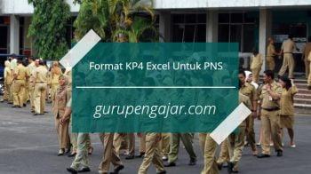 Format KP4 Terbaru 2017 Excel Untuk PNS
