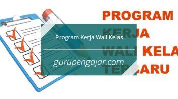 Program Kerja Wali Kelas Tahun Pelajaran 2020/2021