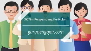 SK Tim Pengembang Kurikulum SD SMP SMA SMK DOC