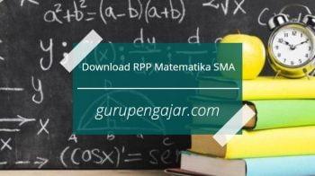 RPP Matematika SMA K13 Revisi 2017